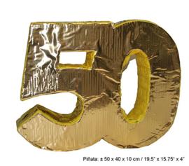 Pinata 50 jaar Goud - 50 cm (66346E)