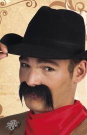 Snor Cowboy zwart (01805B)