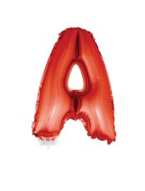 Folie Letter A - 41 cm Rood (met stokje)