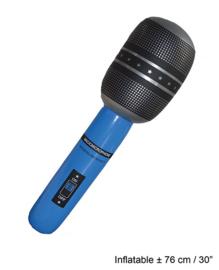 Microfoon opblaasbaar - 76 cm (56146E)