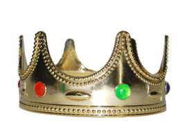 Koningskroon goud kind (53011E)
