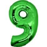 Folie Cijfer 9 - 100 cm Groen