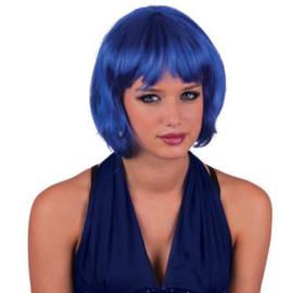 Bobline pruik Blauw (57320E)