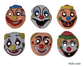 Plastic maskers clowntje - 12 stuks (61100E)
