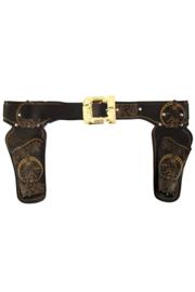 Cowboy holster (dubbel)  zwart (44915P)