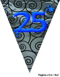 Vlaggenlijn Huwelijk 25 jaar - 5 meter (64271E)