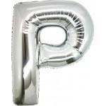 Folie Letter P - 100 cm Zilver