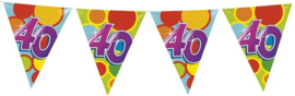 Vlaggenlijn ballonnen leeftijd 40 jaar (10 meter)