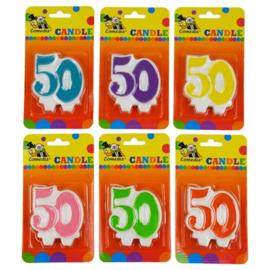 Nummerkaars / cijferkaars 50 jaar (15366W)