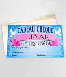 Cadeau-cheque ...JAAR GETROUWD (27PD)