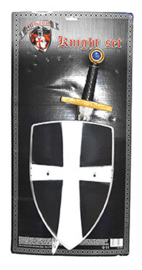 Wapenset ridders 2-delig zwart (52277E)