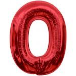 Folie Cijfer 0 - 100 cm Rood
