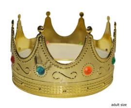 Koningskroon goud volwassenen (53010P)