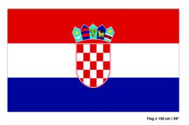 Vlag Kroatië - 90 x 150 cm (62337E)