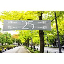 Banner / spandoek Jubileum 25 jaar - 180 x 40 cm (21482F)