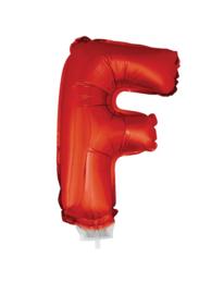 Folie Letter F - 41 cm Rood (met stokje)
