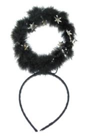 Diadeem aureool zwart (74206E)