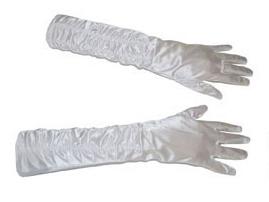 Lange handschoenen met stretch - Wit (60197E)
