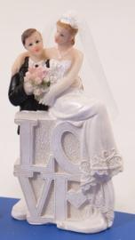 Trouwfiguurtje / bruidspaar man en vrouw / love koppel (21252F1)