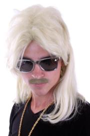 Pruik met matje Blond (20792P)