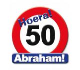 Huldeschild verkeersbord 50 jaar Abraham