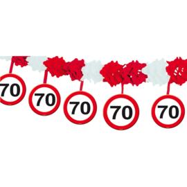 Slinger met onderhanger verkeersbord 70 jaar (05237F)