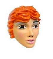 Masker mooie vrouw - rode haren (34302P)