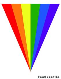 Vlaggenlijn Rainbow / Regenboog - 5 meter (84931E)