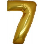 Folie Cijfer 7 - 66 cm Goud