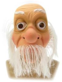 Masker oudere man - witte haren (34261P)