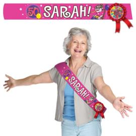 Sjerp + rozet Sarah - 50 jaar (22483F)