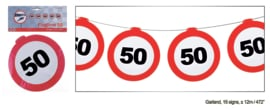 Vlaggenlijn 50 jaar Verkeersbord - 12  meter (84971E)