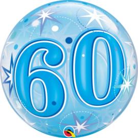 Bubble 60 jaar - Blue Starburst Sparkle  (48449Q)