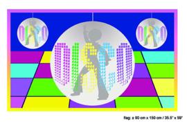 Vlag Disco -  90 x 150 cm (62396E)