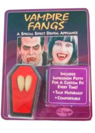 Vampiertanden / dracula tanden - 2 stuks met putty (34070P)