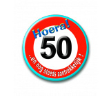Button 50 jaar verkeersbord