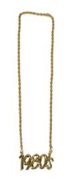 Gouden ketting 1980's (53476E)