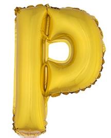 Folie Letter P - 41 cm Goud (met stokje)