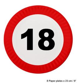 Bordjes verkeersbord 18 jaar (84604E)