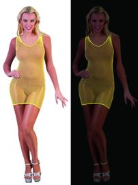 Visnet jurk neon Geel (59338E)