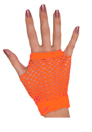 Nethandschoenen kort vingerloos Neon Oranje (80063E)