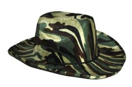 Leger cowboyhoed camouflage (51079E)
