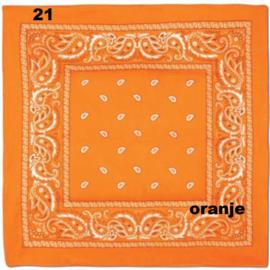 Bandana / boerenzakdoek Oranje (100% katoen - 021)