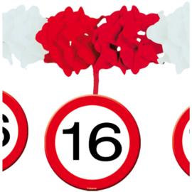 Slinger met onderhanger verkeersbord 16 jaar (05215F)