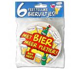Bierviltjes verkeersbord Met bier meer plezier - 6 stuks