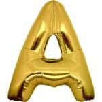 Folie Letter A - 100 cm Goud