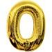 Folie Cijfer 0 - 100 cm Goud