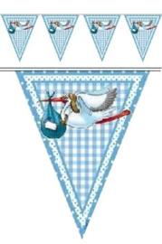 Vlaggenlijn Geboorte Jongen - 10 meter (09057F)