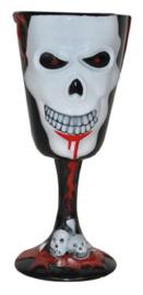 Halloween drinkbeker (zwart) geraamte (74649E)