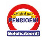Huldeschild verkeersbord 'Officieel met pensioen!'